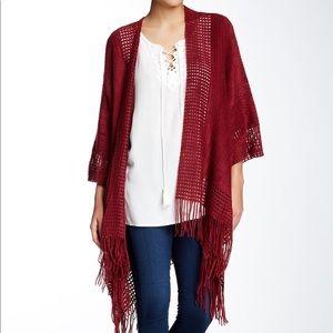 Max Studio Fringed Blanket Sweater